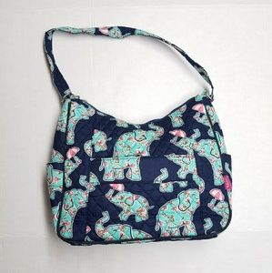 N. Gil Elephant Print Quilted Purse